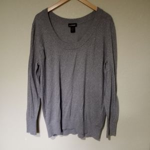 Lane Bryant silver sparkly sweater